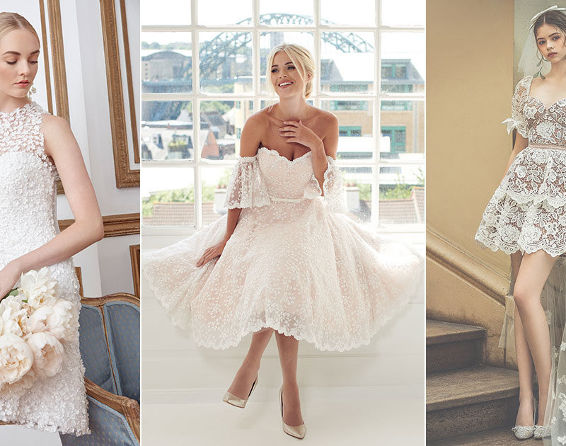 14 Short Wedding Dresses and Little White Dresses For Your Intimate Ceremony, Virtual Wedding, and Beyond!