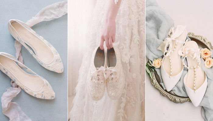 11 Fashionable and Comfortable Wedding Flats For Modern Brides