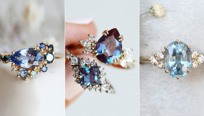 Something Blue Engagement Rings! 13 Most Beautiful Blue-Hued Gemstone Rings For A Romantic Proposal